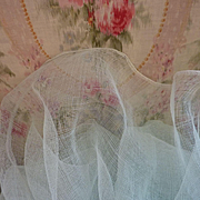 SOLD Superb French wide duck egg tulle fabric for doll: sewing  projects : old shop stock