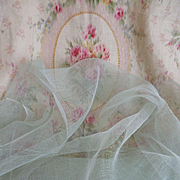 Superb French duck egg colored stiffening tulle fabric for doll : sewing projects just under 1