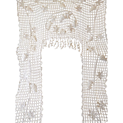 Delicious antique French hand made crochet portiere : door surround plump bunches grapes