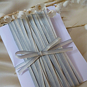 10 yards delicious French narrow ombre : graduated ribbon : grey : white : old shop stock