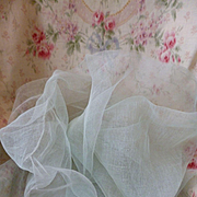 Ethereal old French duck egg : seafoam green colored stiffening tulle fabric  : sewing project