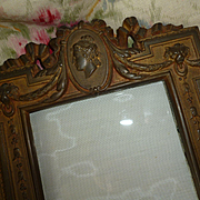 Decorative 19th C. French patinated bronze or brass photo frame