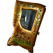 Enchanting 19th C. French miniature display sedan chair vitrine : cherubs : mignonette doll ..