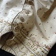 SOLD Splendid  gentleman's taffeta & silk embroidered waistcoat Louis XVI period