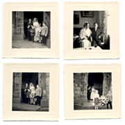 9 Mini Wedding Photos French Church circa 1960s Finistere France