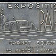 SALE RARE 1937 Paris Expo souvenir set: Photo Stamps and Postcards