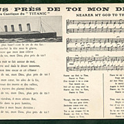 TITANIC Nearer My God to Thee FRENCH English version Original Postcard circa 1913