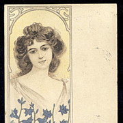 Antique OLIBET Biscuit French Advertising Postcard No. 2