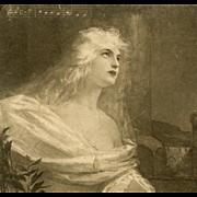Elsa from Wagner's Lohengrin Opera Postcard by Hans Schlimarski
