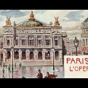 Paris Opera House Antique Postcard Unused