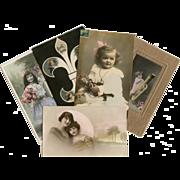 Bon Marche Lot of 5 Antique Postcards of Children