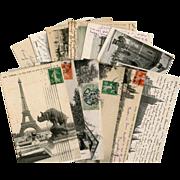 Bon Marche Lot of 12 Antique Paris Postcards for Scrapbooking