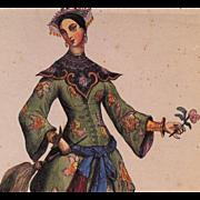 SOLD 1983 Invitation to Paris Exhibition of Exotic Oriental Art