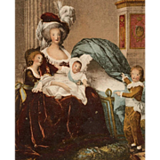 SALE Lebrun-Vigée Portrait of Marie-Antoinette with her Children Antique German Postcard