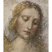 SOLD 1948 French Postcard of Leonardo da Vinci's Christ The Redeemer for Milan Museum