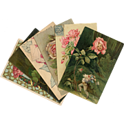 Lot of 6 Antique Postcards of Roses for Artists or Shabby Chic Decor