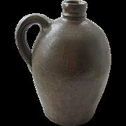 Antique Stoneware Whiskey Jug With Great Shape & Patina
