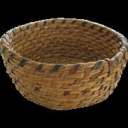 Vintage Native American Rye Basket Beautiful Condition