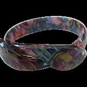 Snake Bracelet By French Designer Lea Stein