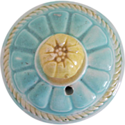 Majolica Lid for Samuel Lear Pond Lily Teapot