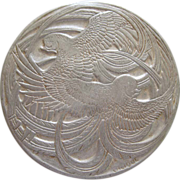 SOLD Art Nouveau Lalique Aluminum Powder Box By Roger Et Gallet Paris France