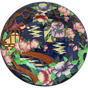 English Maling Majolica Rack Plate With Oriental Design