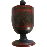 Vintage Russian Lacquer Khokhloma Folk Art Saffron Or Herb Holder