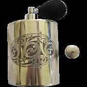 Pair Of Scottish Piper Pewter Perfume Atomizer Bottles