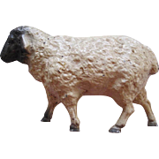 Vintage Cast Iron Figural Sheep Still Bank
