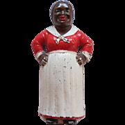 Vintage Hubley Cast Iron Aunt Jemima Or Black Mammy Still Bank