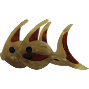Pair Of Fish Pin By French Designer Lea Stein