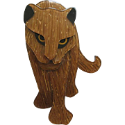 Panther Pin By French Designer Lea Stein