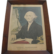 Original Framed Print By Currier & Ives Of George Washington