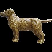 Antique Cast Iron Golden Or Labrador Dog Still Bank