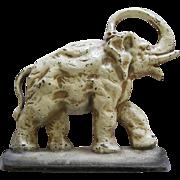Antique Cast Iron Elephant Doorstop