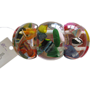 SOLD Carlos Sobral Resin Stretch Bracelet Copacabana Design Multi Colors