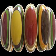 SOLD Stunning French Designed Resin Stretch Bracelet