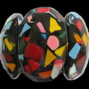 French Designed Resin Confetti Motif Stretch Bracelet