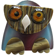 Little Owl Pin By French Designer Lea Stein