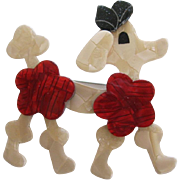 French Poodle Pin By French Designer Lea Stein