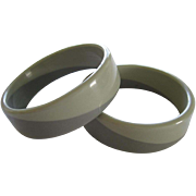 Pair Of 1960's Resin Bangle Bracelets From Argentina