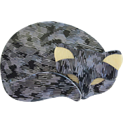 Gomina The Sleeping Cat Pin By French Designer Lea Stein
