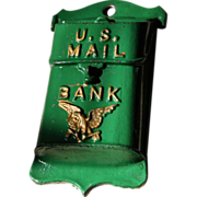 A.C. Williams Cast Iron Bank U.S. Mail Box 1921