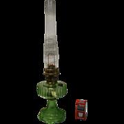 Aladdin Model B102 Green Crystal Kerosene Lamp