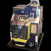 SOLD Mills Q.T. Thunderbird 21 Star Slot Machine 5¢