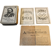 Game of Authors Improved Card Game 1870