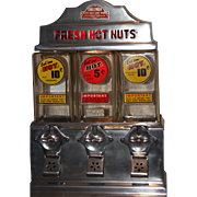 Challenger Hot Nut Coin Operated Vending Machine 1940's
