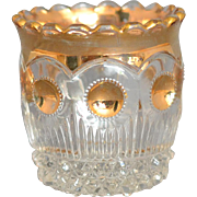 Vintage US Glass Company Manhattan Toothpick Holder Clear w/Gold decor, circa 1898-1910 ...
