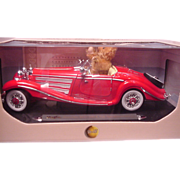 REDUCED Steiff Teddy Bear in Mercedes Roadster Made for Steiff Club