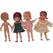 Hasbro Dolly Darlings dolls lot of four